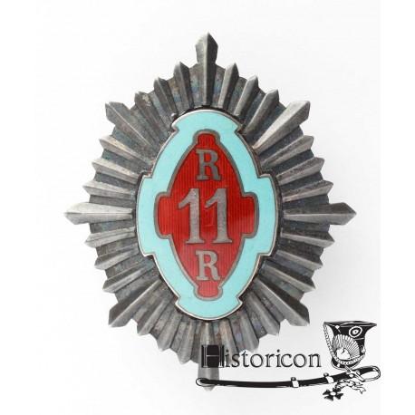 Odznaka 11 Pułku Huzarów po oficerze 2 P. Szwoleżerów Rokitniańskich