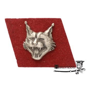 """Odznaka 13 Wileńskiego Batalionu """"Rysie""""."""