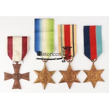 Zestaw dokumentów i odznaczeń po podoficerze Marynarki Wojennej