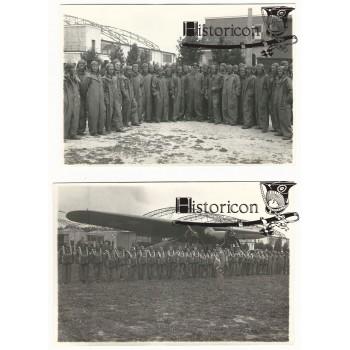 Dwa zdjęcia ze szkolenia spadochronowego LOPP na Okeciu