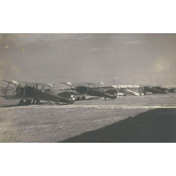 Duże i efektowne zdjęcie polskich samolotów stojących na lotnisku