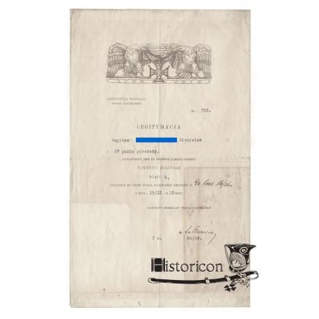 Dyplom VM z roku 1920