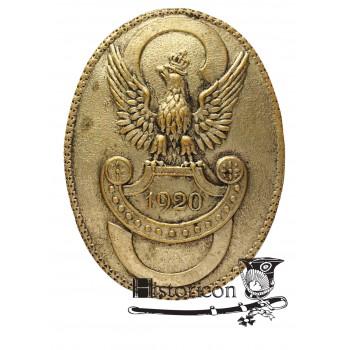 """Odznaka pamiątkowa organizacji """"Strzelec"""" z roku 1920"""