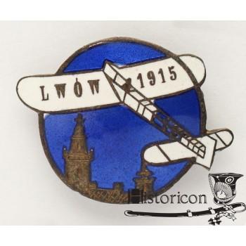 Pamiątkowy znaczek lotniczy ze Lwowa