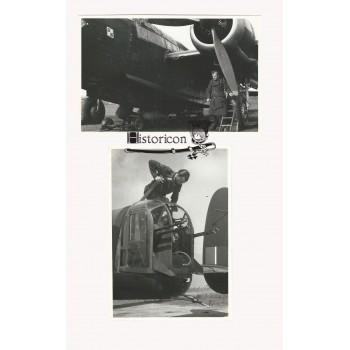 Zestaw dwóch zdjęć polskiego bombowca