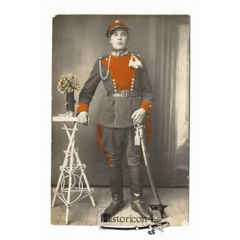 Przedwojenne zdjęcie ułana z szablą