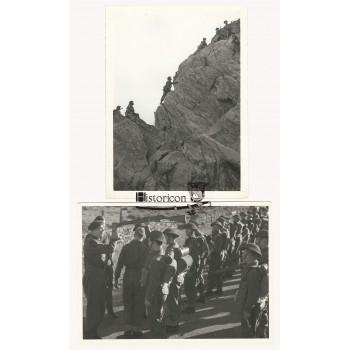 Zestaw dwóch zdjęć przedstawiających żołnierzy Samodzielnej Kompanii Commando