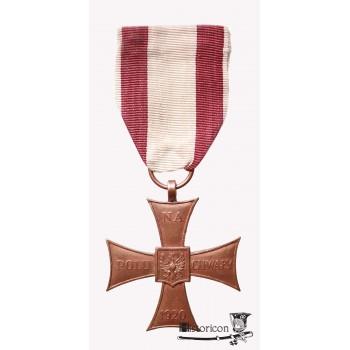 Krzyż Walecznych - Bliski Wschód,  odmiana wybita w brązie