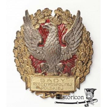 """Odznaka """"SĄDY RZECZYPOSPOLITEJ POLSKIEJ"""""""