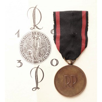Medal Niepodległości z dokumentem nadania