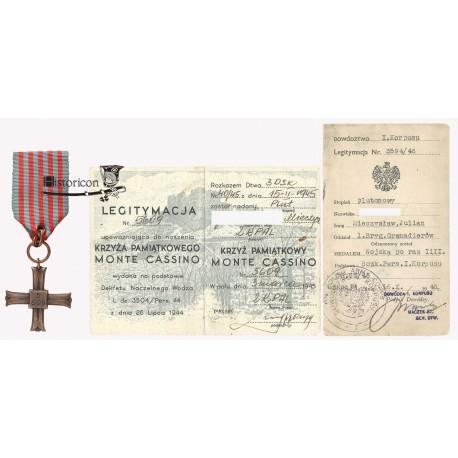 Krzyż Monte Cassino nadany weteranowi walk w Tobruku