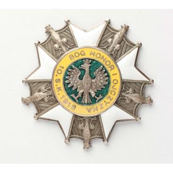 Odznaka 10 PSK - luksusowy egzemplarz wykonany na indywidualne zamówienie