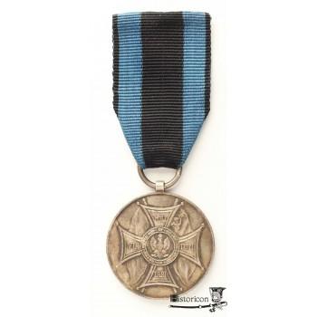 """Srebrny Medal """"Zasłużonym na Polu Chwały"""" z inskrypcją """"LENINO"""" oraz datą bitwy"""