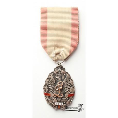 Odznaka pamiątkowa  Związku Legionistów Puławskich – luksusowe wykonanie
