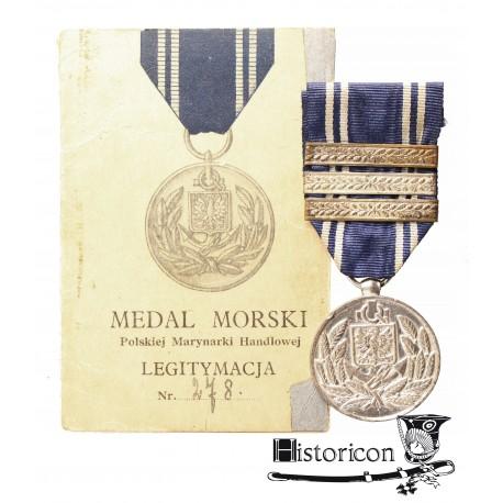 """[1.9] Medal """"POLSKA SWEMU MARYNARZOWI"""" z dokumentami"""