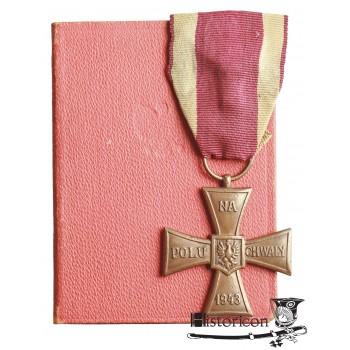 """Krzyż Walecznych z datą """"1943"""""""