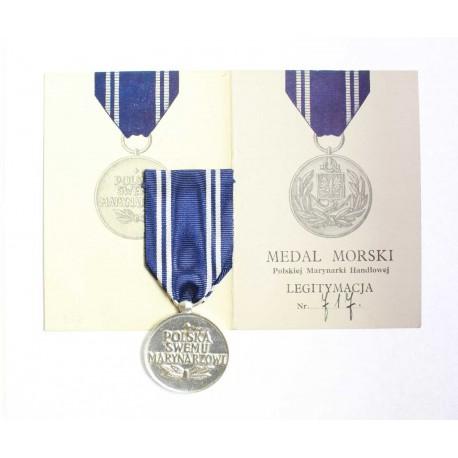 Medal Marynarki Handlowej z legitymacją