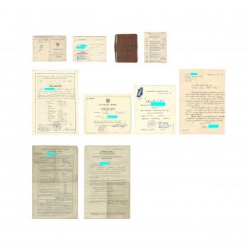 Zestaw dokumentów po spadochroniarzu z 1 SBS