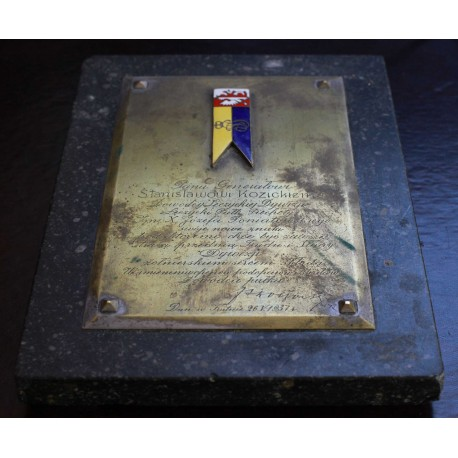Plakieta pamiątkowa 37 Łęczyckiego Pułku Piechoty
