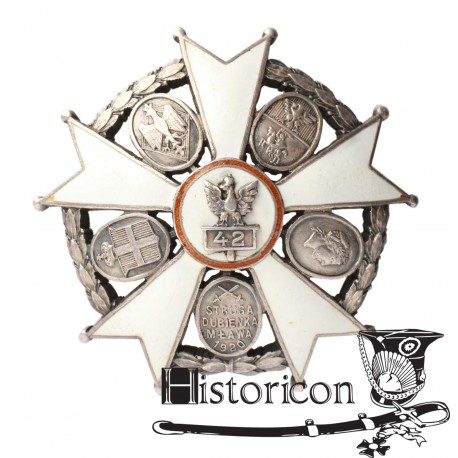 Odznaka 42 Pułku piechoty - wersja oficerska